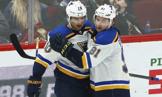 Blues' Top Line is Red Hot