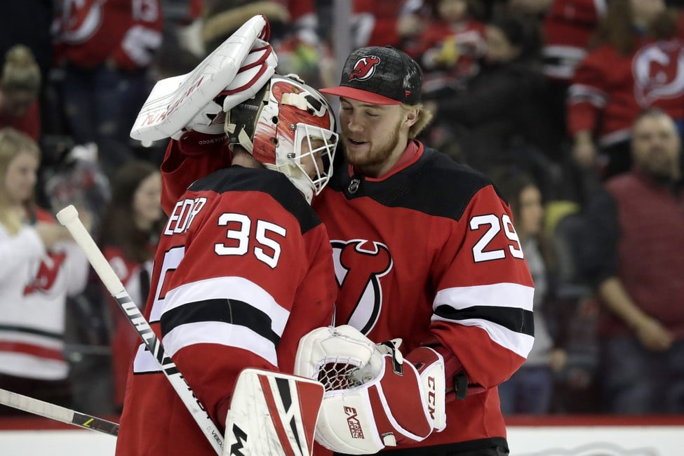 New Jersey Devils Cory Schneider MacKenzie Blackwood
