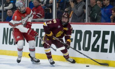 Blues' Perunovich Makes Frozen Four Tournament