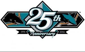 Sharks 25th logo