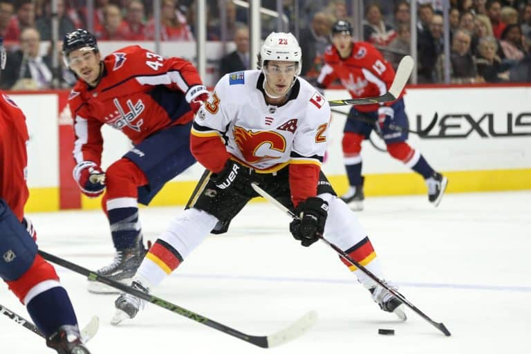 Calgary Flames center Sean Monahan