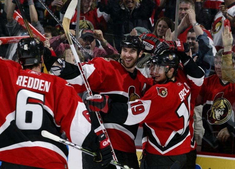 Wade Redden Zdeno Chara Jason Spezza Ottawa Senators