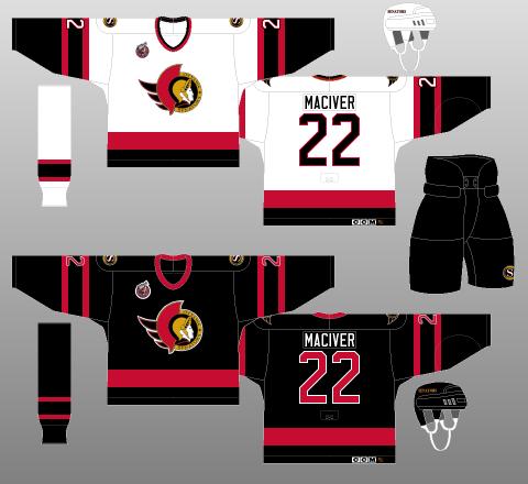 Ottawa Senators jersey 1992-93