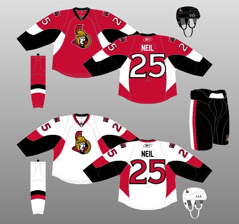 Ottawa Senators jersey 2007-08