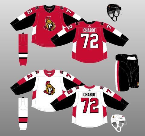Ottawa Senators jersey 2017-18