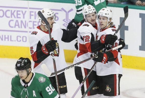 Ottawa Senators Ryan Dzingel Thomas Chabot Cody Ceci