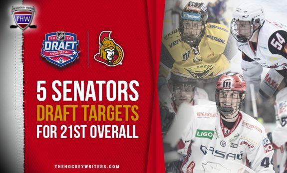 5 Ottawa Senators Draft Targets for 21st Overall 2020 Helge Grans, Lukas Reichel, Jan Mysak