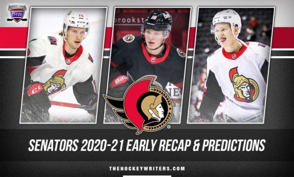 Ottawa Senators 2020-21 early recap and predictions Brady Tkachuk, Tim Stutzle, and Thomas Chabot