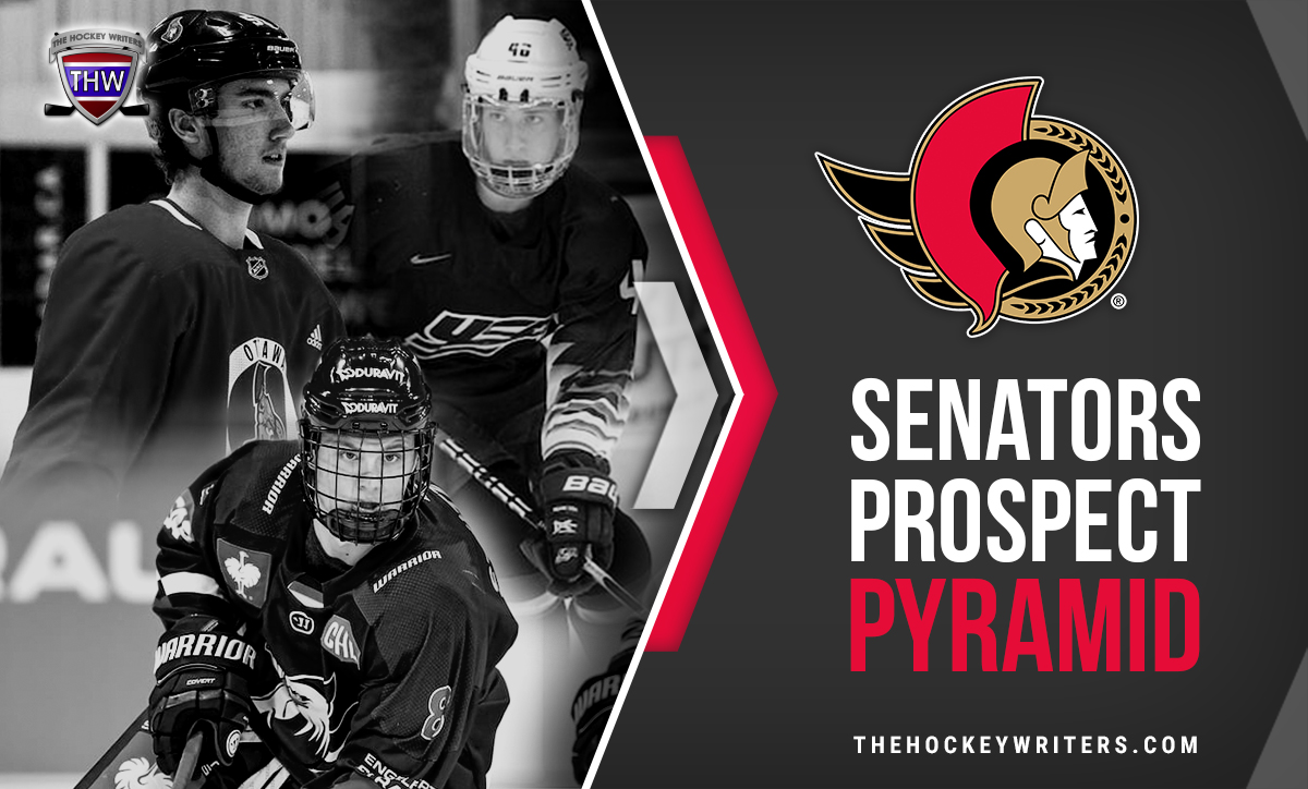 Ottawa Senators 2020-21 Prospect Pyramid Tim Stutzle, Jake Sanderson, Alex formenton
