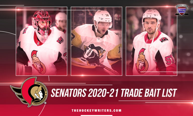 Ottawa Senators 2020-21 Trade Bait List Alex Galchenyuk, Anders Nilsson, and Artem Anisimov