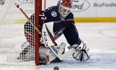 Blue Jackets & Bobrovsky Blank Sharks