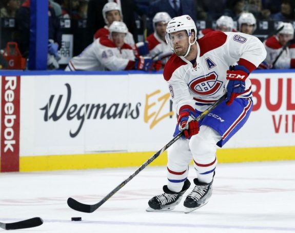 (Kevin Hoffman-USA TODAY Sports) Shea Weber started the season hot, hitting the ground running with the Montreal Canadiens, before cooling off offensively, but he's starting to heat up again now.