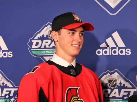 Shane Pinto Ottawa Senators Draft