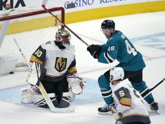 Vegas Golden Knights Malcolm Subban San Jose Sharks Tomas Hertl
