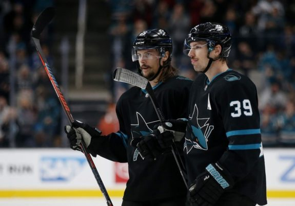 San Jose Sharks' Erik Karlsson Logan Couture