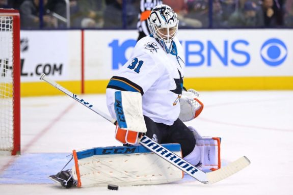 San Jose Sharks goaltender Martin Jones