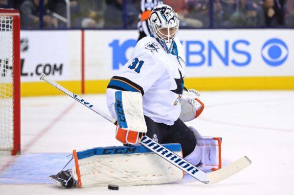 San Jose Sharks goaltender Martin Jones