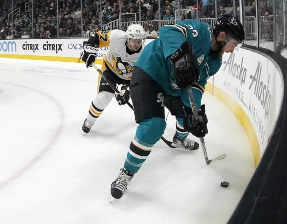San Jose Sharks Barclay Goodrow Pittsburgh Penguins Sidney Crosby