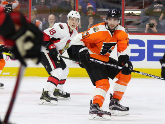 Shayne Gostisbehere is looking to correct his defensive mistakes in the early goings of the season. (Amy Irvin / The Hockey Writers)