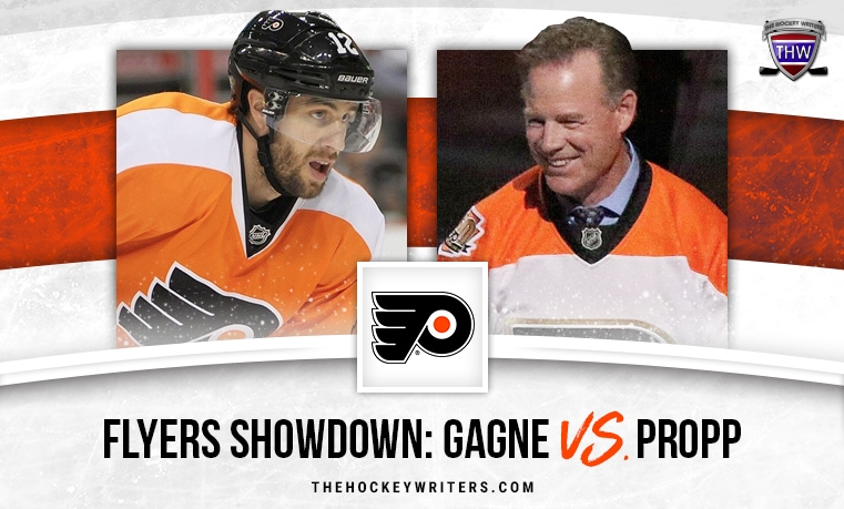 Simon Gagne Brian Propp Philadelphia Flyers Showdown: Gagne vs. Propp