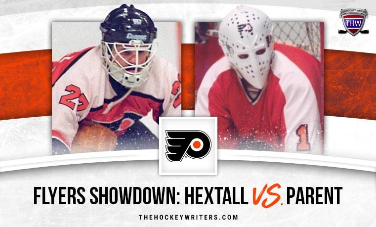 Ron Hextall and Bernie Parent Philadelphia Flyers Showdown