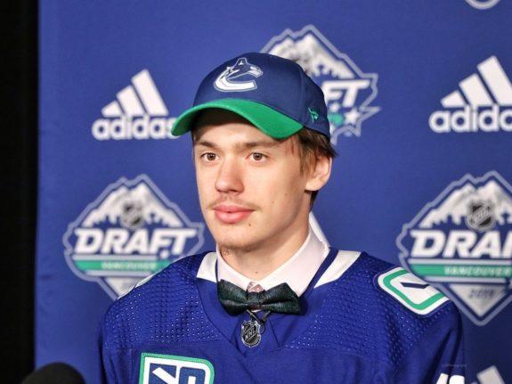 Artus Silovs Vancouver Canucks 2019 NHL Draft