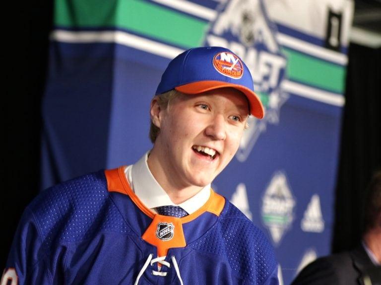 Simon Holmstrom Islanders Draft