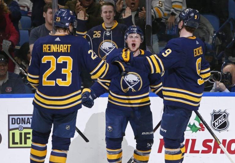 Jeff Skinner and Jack Eichel