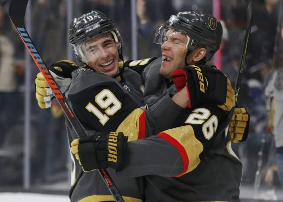 Vegas Golden Knights Reilly Smith Paul Stastny