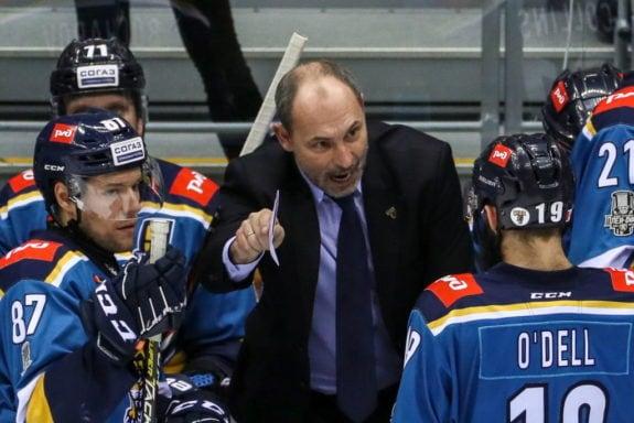 HC Sochi head coach Sergei Zubov
