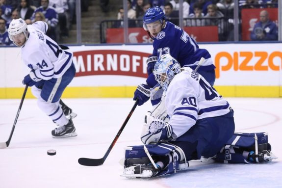 Toronto Maple Leafs Garret Sparks Tampa Bay Lightning Adam Erne