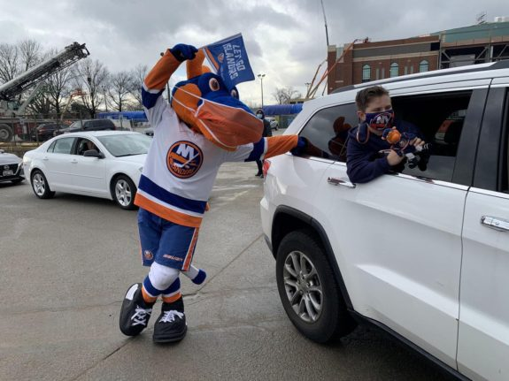 New York Islanders mascot Sparky