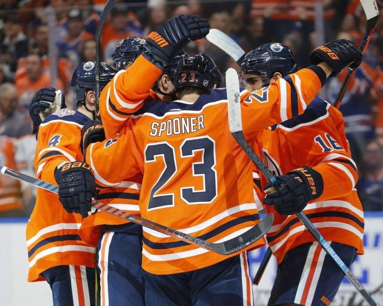 Edmonton Oilers celebrate
