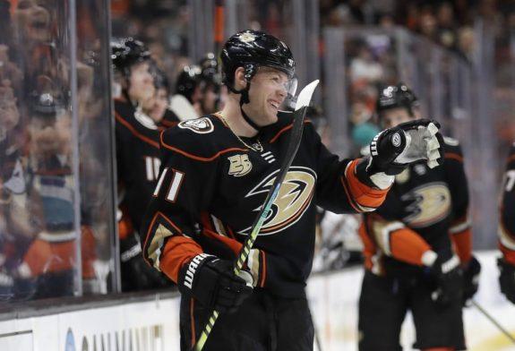 Anaheim Ducks' Daniel Sprong