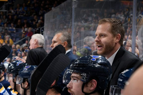 St. Louis Blues assistant coach Steve Ott