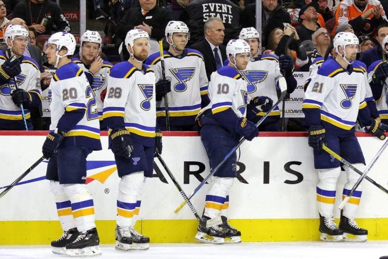 St. Louis Blues bench