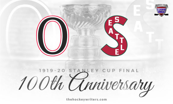 1919-20 Stanley Cup final between the Ottawa Senators and the Seattle Metropolitans NHL 100th anniversary