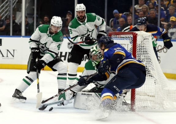 St. Louis Blues' Robert Thomas Dallas Stars Ben Bishop