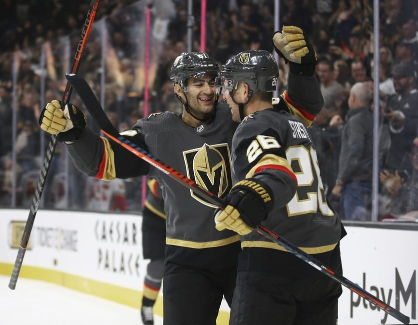 Vegas Golden Knights Paul Stastny Max Pacioretty