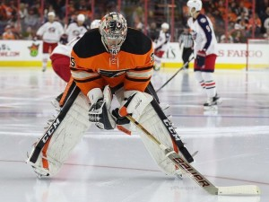 Steve Mason will have a lot of weight on his shoulders. (Amy Irvin / The Hockey Writers)