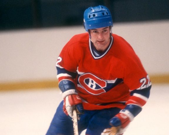 Steve Shutt #22 of the Montreal Canadiens