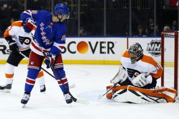 Philadelphia Flyers Anthony Stolarz New York Rangers Vladislav Namestnikov