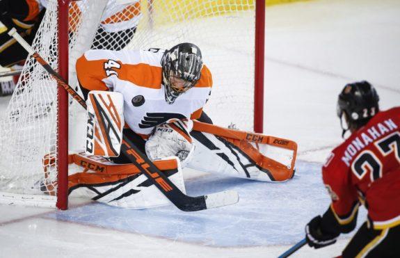 Flyers Anthony Stolarz, Flames Sean Monahan