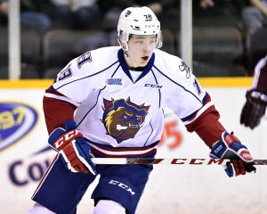 Matthew Strome of the Hamilton Bulldogs. Photo by Aaron Bell/OHL Images