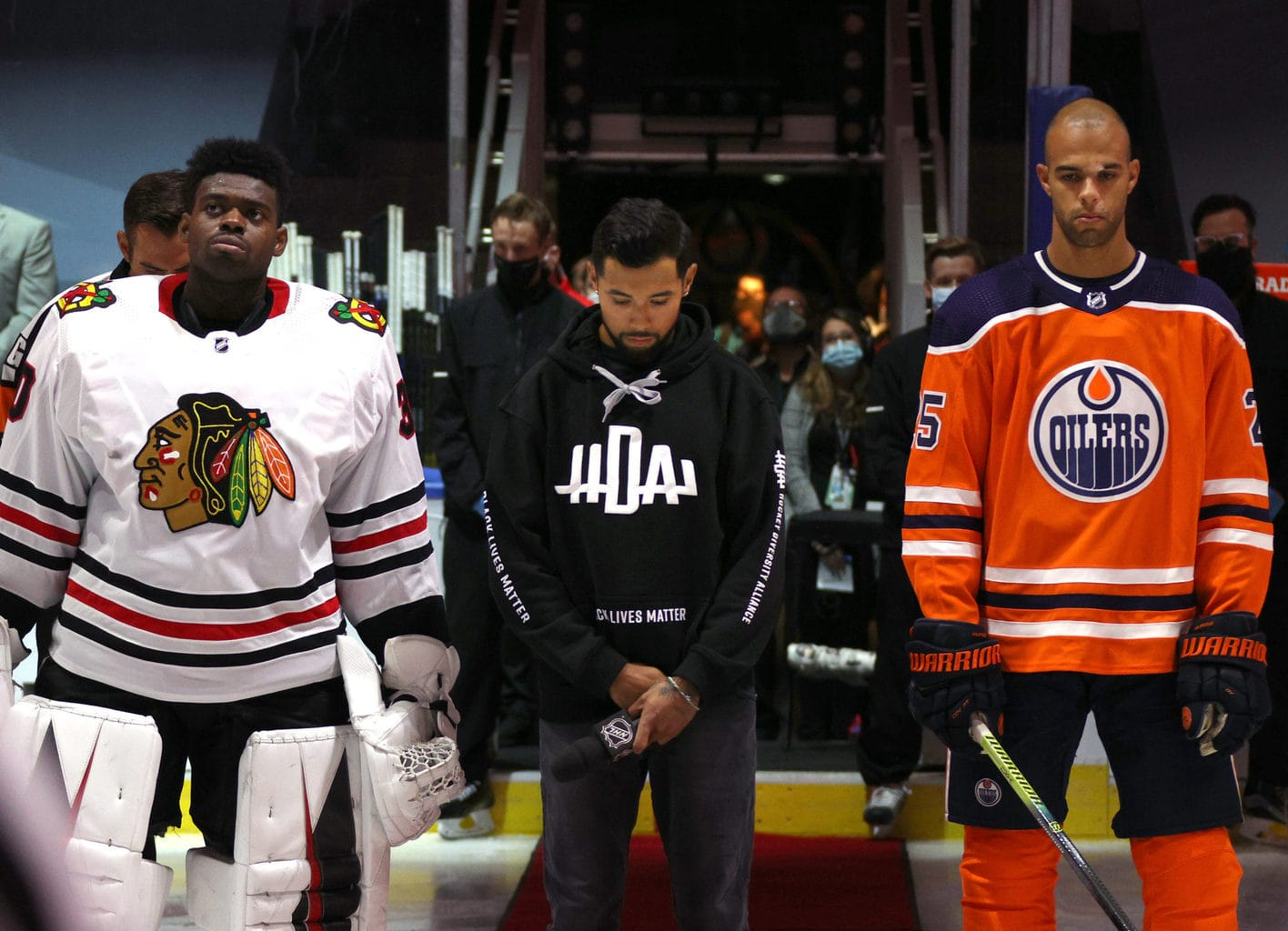 Matt Dumba Speaks for NHL & Hockey Diversity Alliance Before Game