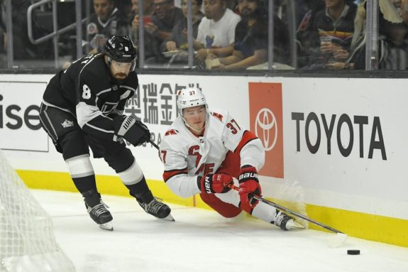 Carolina Hurricanes Andrei Svechnikov Los Angeles Kings Drew Doughty