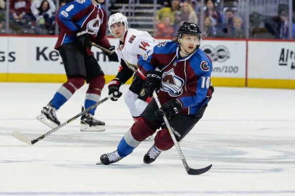 Avalanche right wing Sven Andrighetto