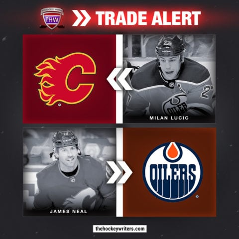 Milan Lucic James Neal Edmonton Oilers Calgary Flames Trade Conditional Draft Pick