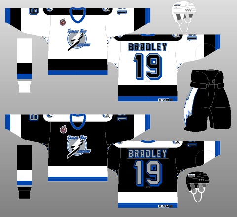 Tampa Bay Lightning 1992-93 Jerseys