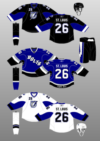 Tampa Bay Lightning 2008-11 Jerseys